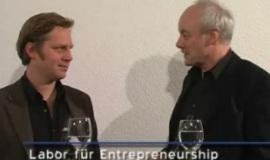 Holm Friebe und Günter Faltin im Labor für Entrepreneurship