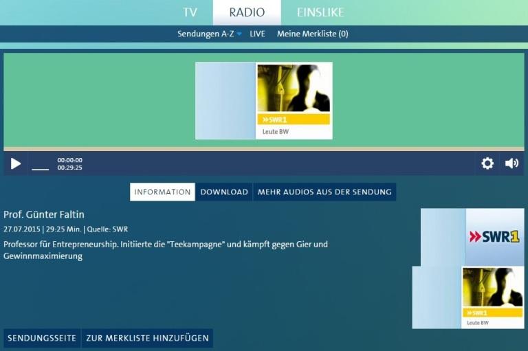 SWR1 Radio Interview Wir sind das Kapital SWR1 Radio Interview   Wir sind das Kapital